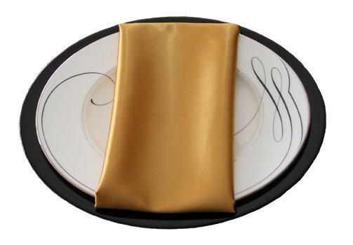 Gold Satin Napkin Gold Polyester Satin Napkin Rental