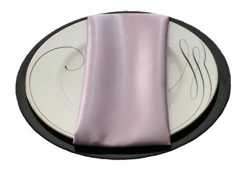 Lilac Satin Napkins Lilac Polyester Satin Napkin Rental