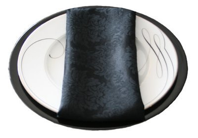 Black Damask Napkin Rental