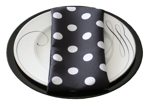Black and White Polka Dot Napkin Rentals Black and White Polka Dot Napkin Rentals