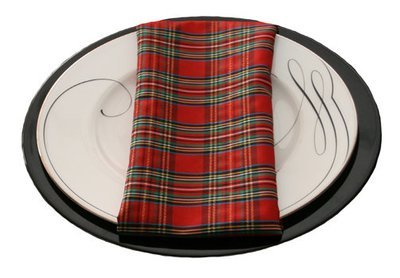 Holiday Plaid Napkin Rental
