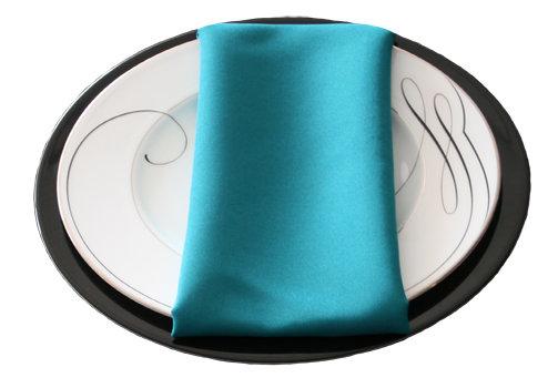Teal Napkins Teal Polyester Napkin Rental