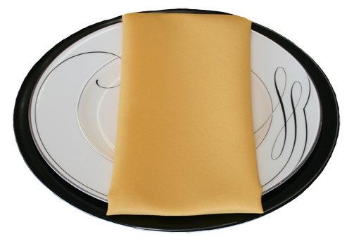 Goldenrod Napkins Goldenrod Polyester Napkin Rental