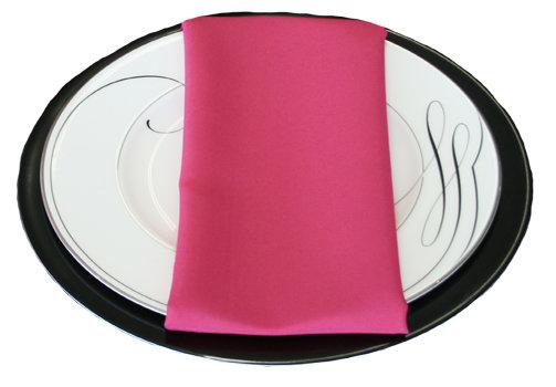 Hot Pink Napkins Hot Pink Polyester Napkin Rental