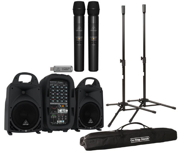Portable PA System Rental - With Wireless Microphone Portable PA System - With Wireless Microphone