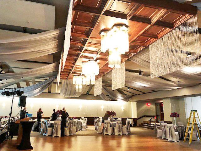 Des Moines Golf & Country Club - West Des Moines - Ceiling Draping Des Moines Golf & Country Club - West Des Moines - Ceiling Draping