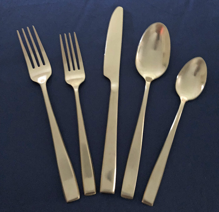Flatware - 5 Piece Setting - Matte Gold