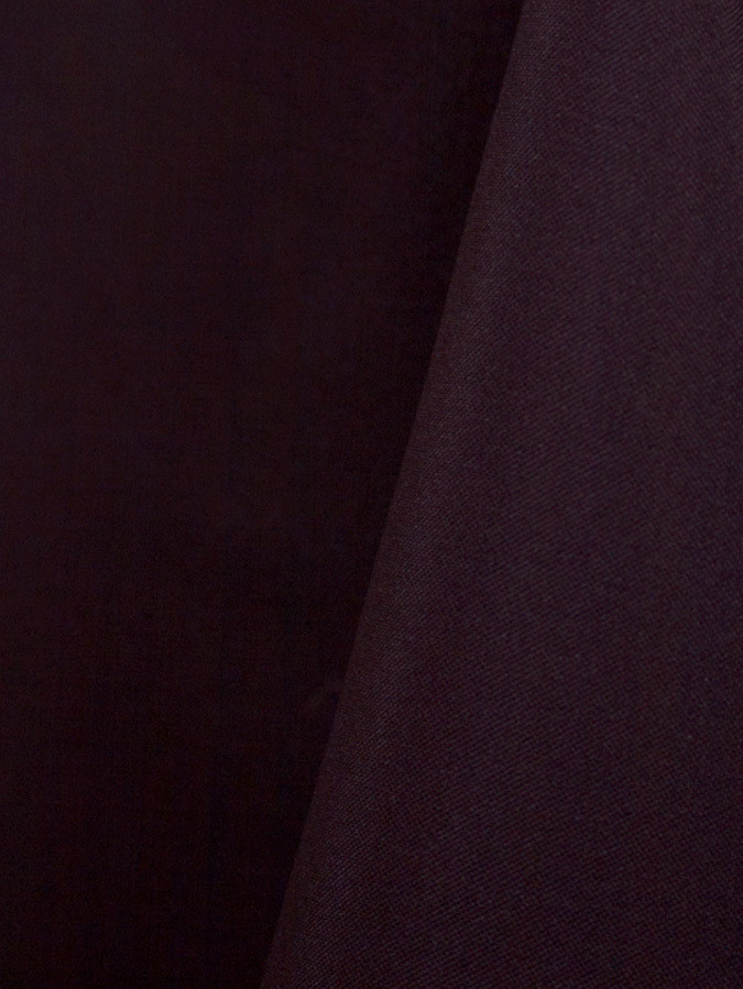 Eggplant Solid Polyester Table Skirting Rental