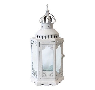 White Metal Lantern Rental