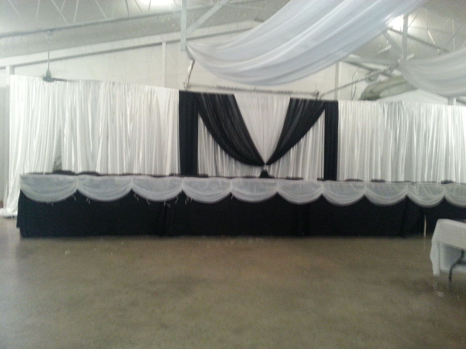 DIY Sateen Backdrop - 12' High - Per Foot - Minimum 12'