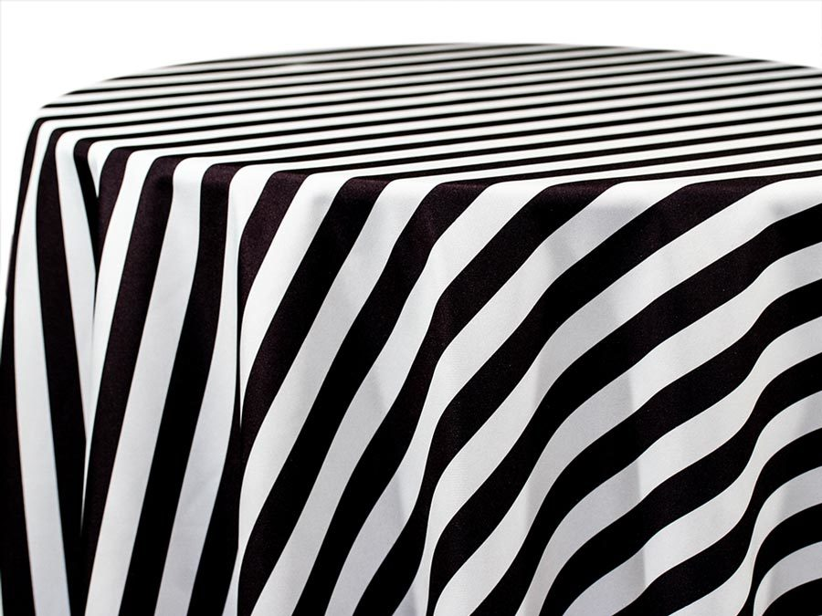 Black & White Stripe Tablecloths BLACK & WHITE STRIPE TABLECLOTHS
