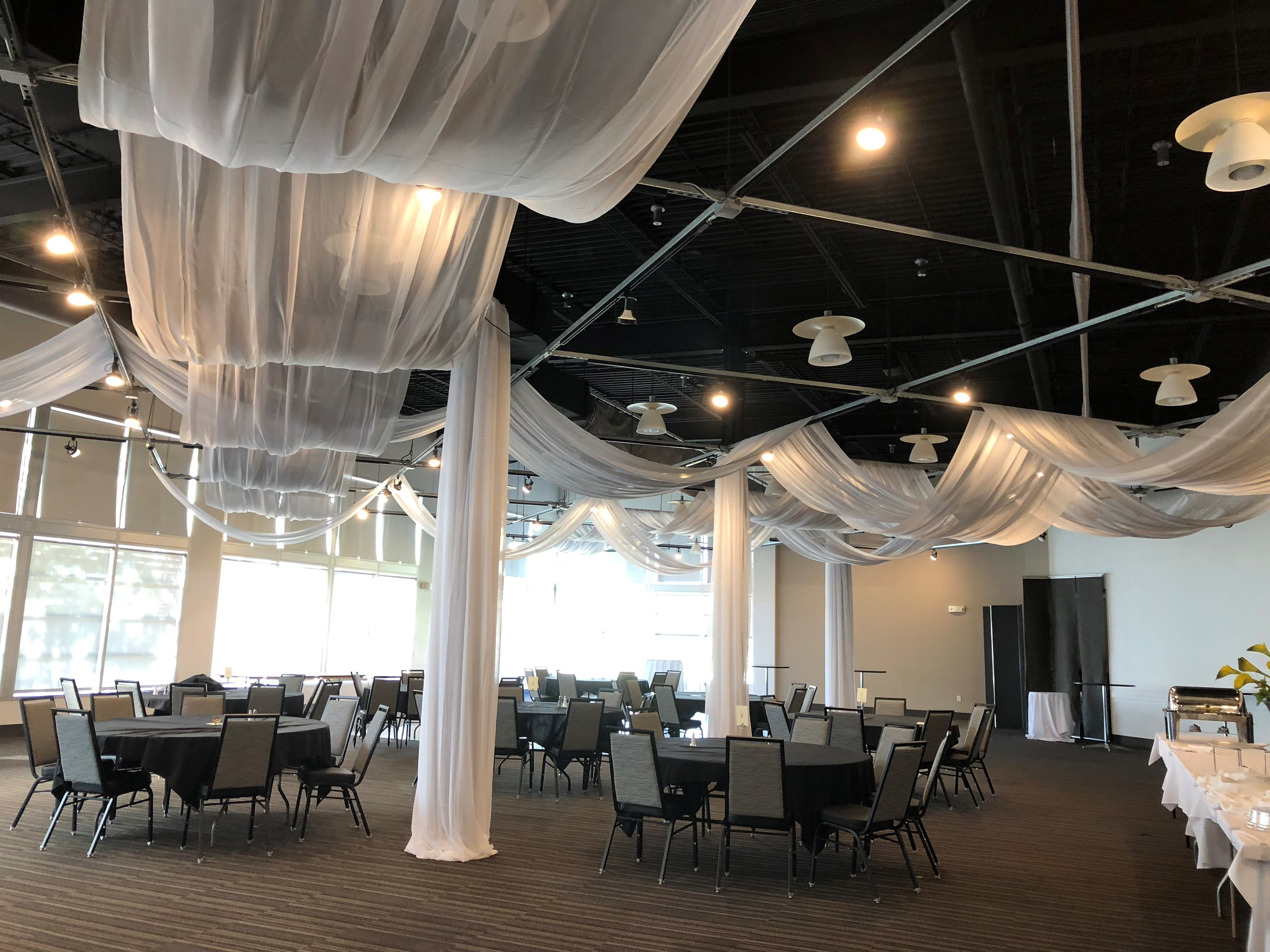Linear Ceiling Draping Linear Ceiling Draping