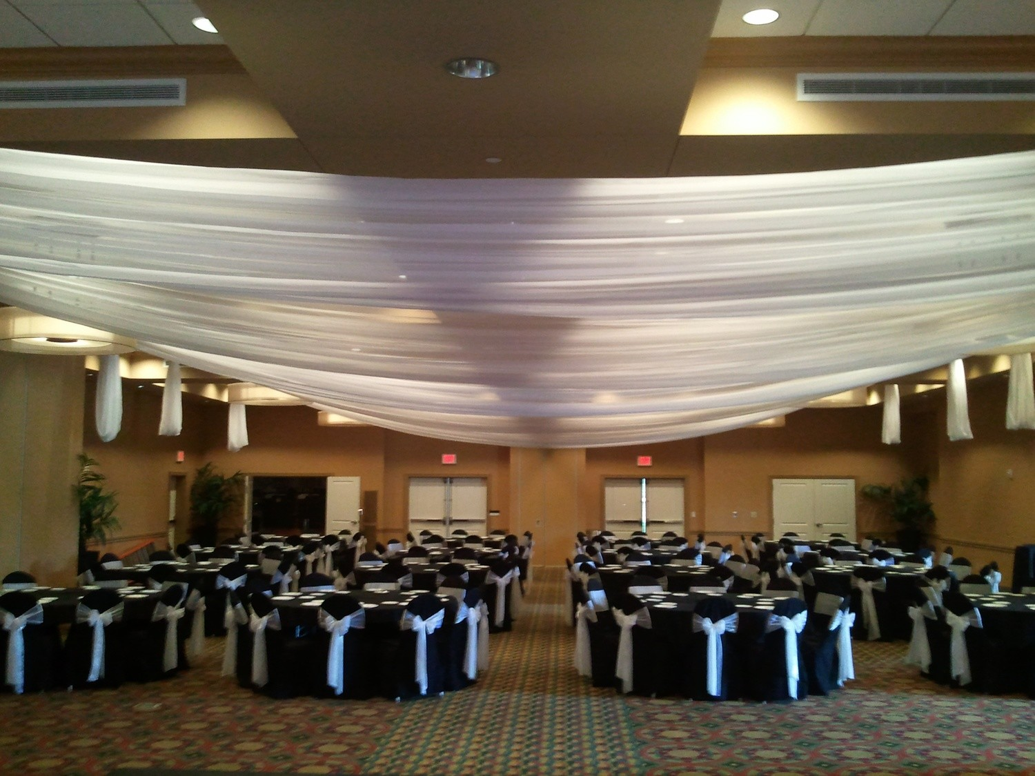 Flat Ceiling Draping