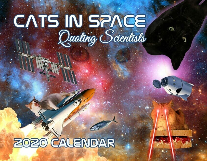 2020 Cats in Space Quoting Scientists Wall Calendar