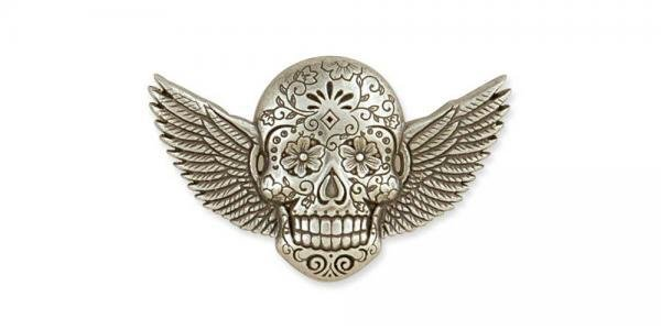Sugar Skull Conchos Winged