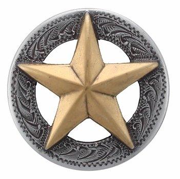 3D Texas Star Conchos