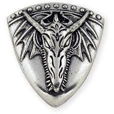 Dragon Head Shield Winged Concho