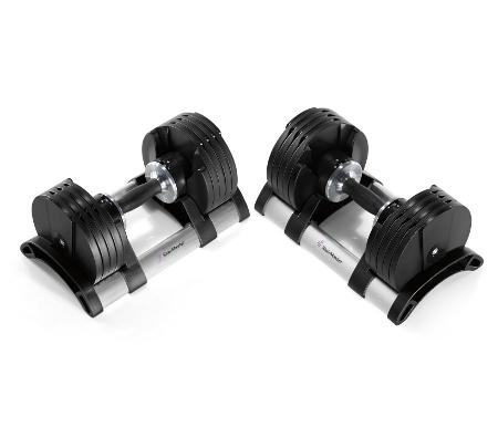 Stairmaster Twistlock Adjustable Dumbbell, 5-50lb Pair