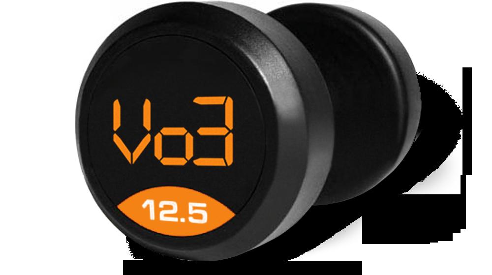 V03 Rubber Dumbbell Set (5-50 lb set, 10 pairs)