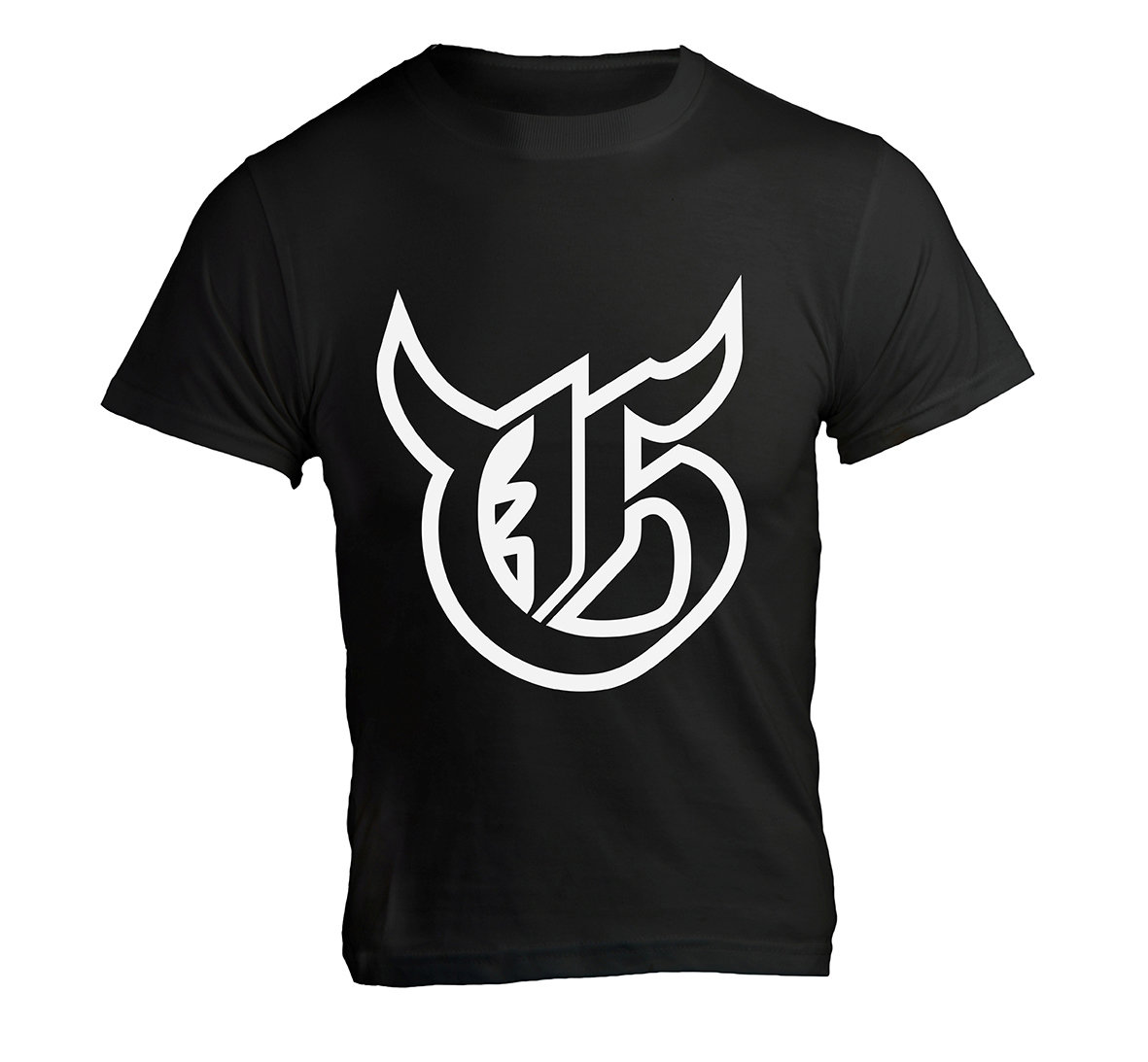 T-Shirt «Hörner» Schwarz
