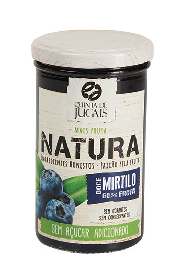 Blueberry / Doce 300 gr (Quinta Jugais) - Natura - No Sugar Added