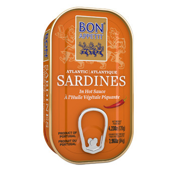Bon Appetit Sardines Spicy Oil (Sunflower) (120 gr)