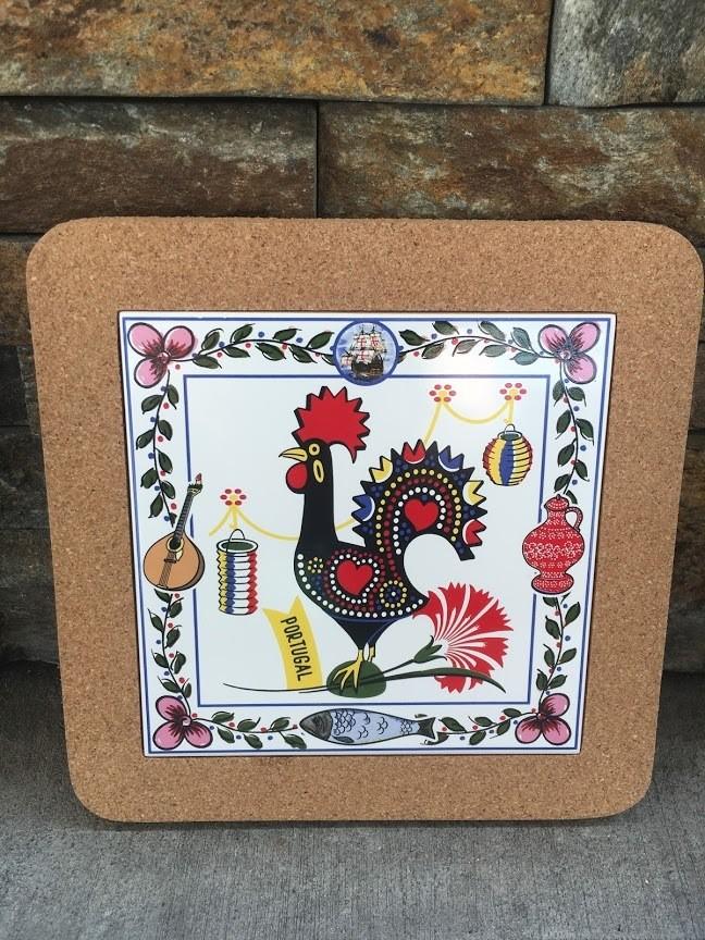 Tile Trivet (Rooster Tiles)
