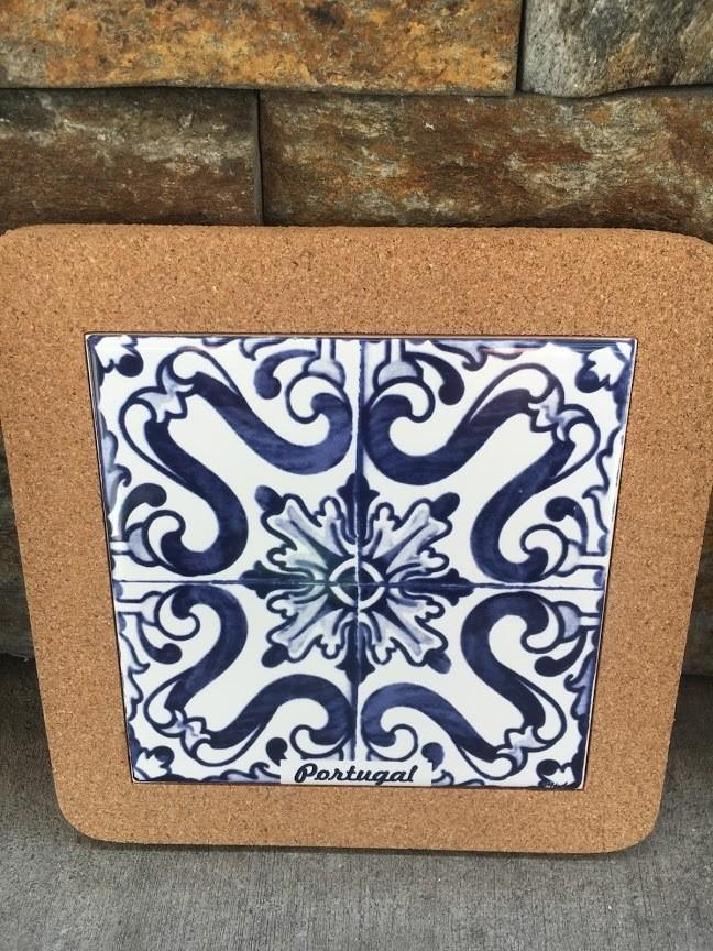Azulejo Trivet (Blue Painted Tile)