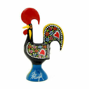 "Portuguese Aluminum Decorative Figurine Rooster Decor  5 1/2"" Tall"