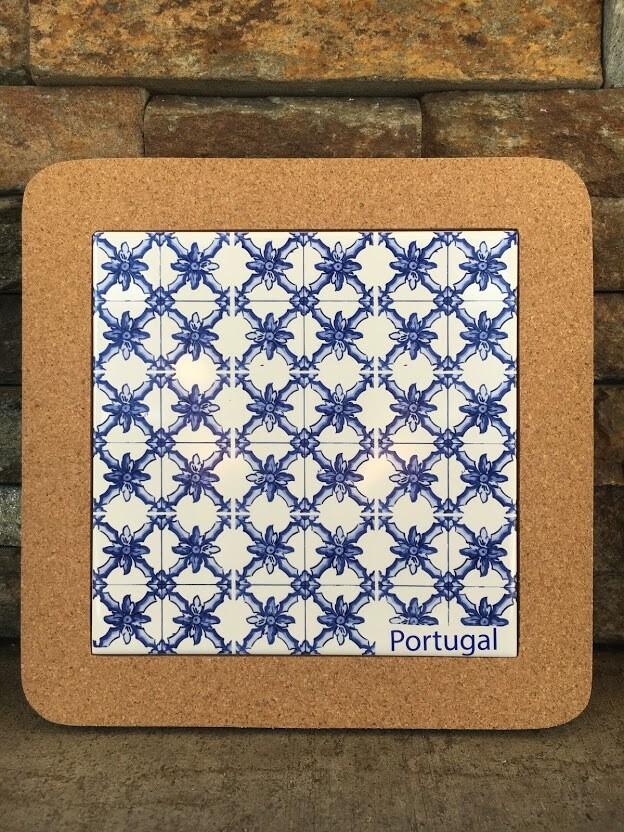 Azulejo Trivet (BlueWhiteVine)