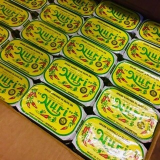 Nuri Portuguese Spiced Sardines  in Olive Oil (3.5 oz) [BULK] 42 Cans (Free Shipping this Item)