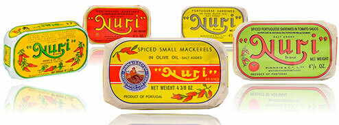 Nuri Portuguese Sardines (3.5 & 4.5 oz) Assorted [BULK] 33 Cans (Free Shipping this Item)