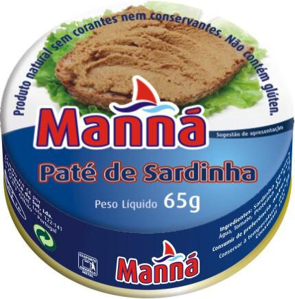 Manna Pate Sardine (4 x 22 gr Pkg)