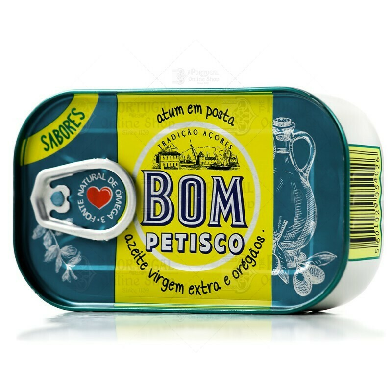 Bom Petisco Solid Tuna in (Extra Virgin Oil & Oregano) (120 gr)