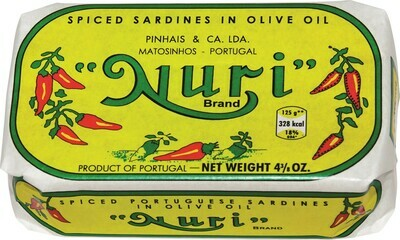 Nuri Portuguese Spiced Sardines in Olive Oil (4.3 oz)