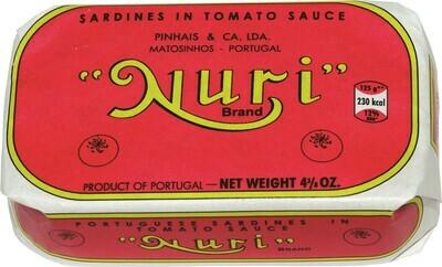 Nuri Portuguese Sardines (Not Spiced) in Tomato (4.3 oz)