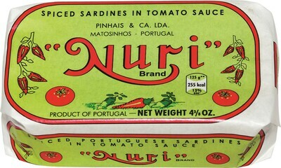 Nuri Portuguese Spiced Sardines In Tomato Sauce (4.3 oz)