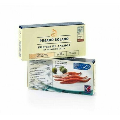 Pujado Anchovy Fillets in Olive Oil (50 gr)