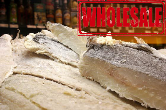 20 LBS - Salted Cod Whole Fish Cut BomPorto (Norway) (Bacalhau) (Wholesale) (Shipping Included)