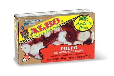Albo Octopus Stewed Tomato or Olive Oil (115 gr)