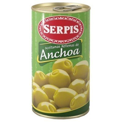 Manzanilla Green Olives Pitted & Stuffed w/t Anchovies BIG CAN 500gr