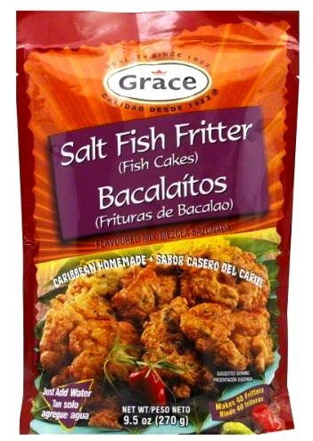 Grace Bacalaitos Frituras de Bacalao (Salt Fish Fritter Fish Cakes) Flavored Mix (270g)