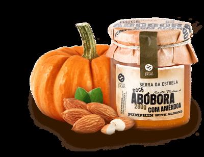 Pumpkin Jam w/t Almonds Doce 280gr (Quinta Jugais)