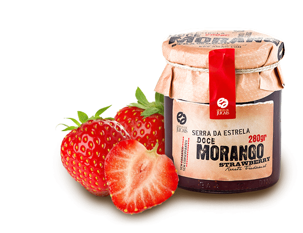 Strawberry w/t Mint Jam / Doce 280gr (Quinta Jugais)​