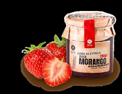 Strawberry w/t Mint Jam / Doce 280gr (Quinta Jugais)