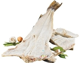 Whole Fish - Dry Salted Cod Jumbo (Norway) (Bacalhau) with Skin and Bone and (Free Shipping On Entire Site)