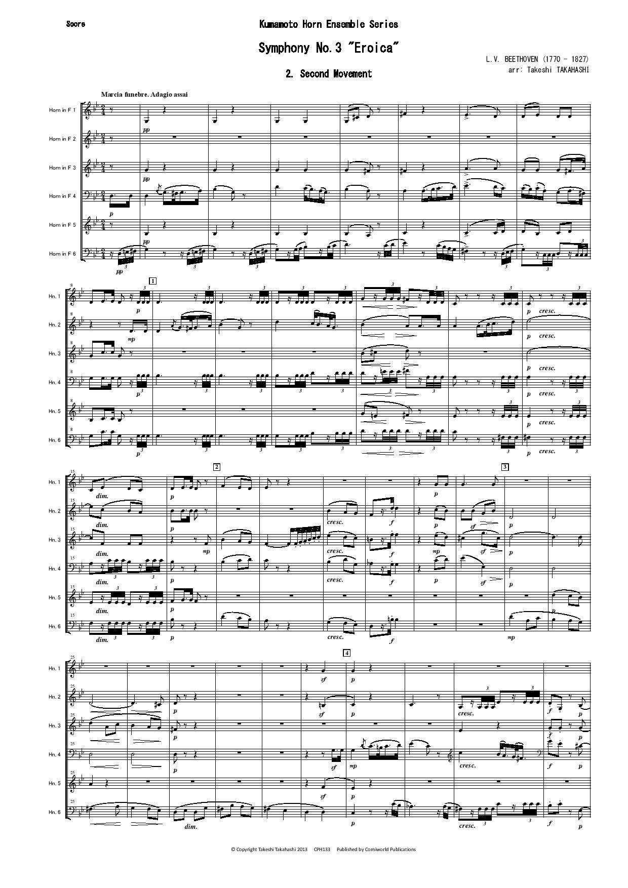 2nd Mvt from Symphony No 3 (Beethoven)