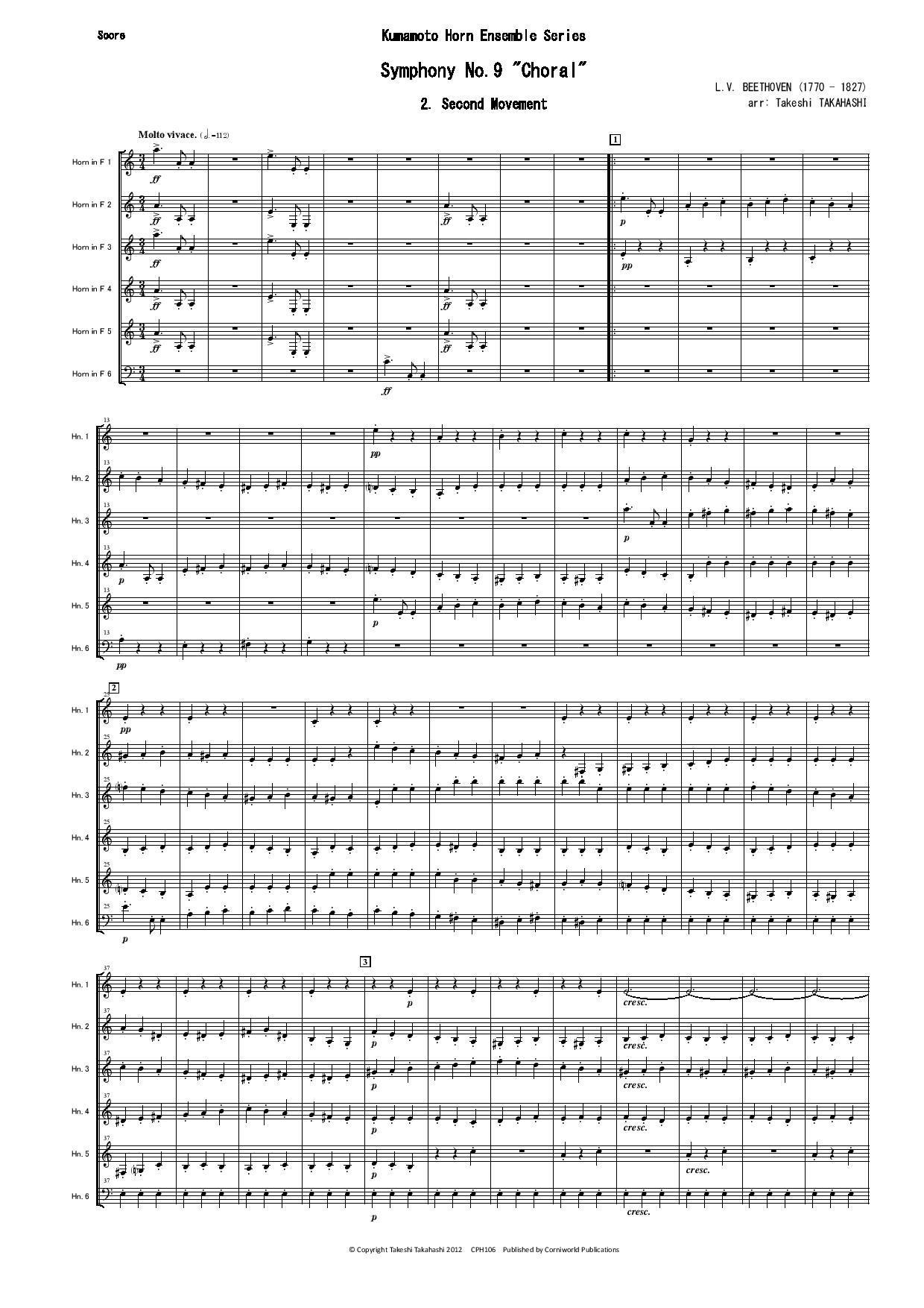 2nd Mvt from Symphony No 9 (Beethoven)