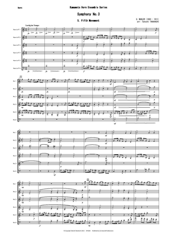 5Th Symphony 5th mvt from symphony no.3 (mahler)