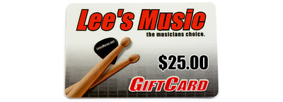 Lee's Music Gift Card - $25